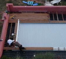 Une photo du debut de la terrasse en novembre
