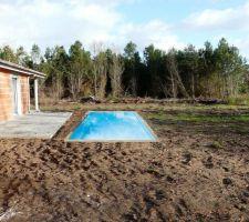 Croquis implantation piscine