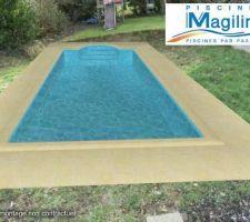Photo demande de travaux implantation de la piscine