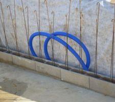 Protection du PVC souple de la bonde de fond avec de la gaine janolène