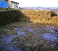Terrain argileux retenant l'eau