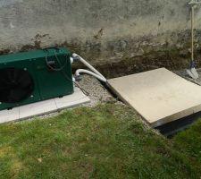 Local technique enterré, et pompe à chaleur
