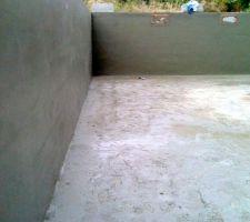 Enduit ciment des murs