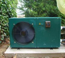 Pompe à chaleur Garden-pac de 13 kw, l'eau est à 29°