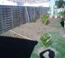 Recup terre vegetale pour massif