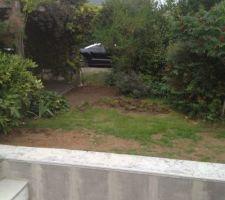 Décaissement avant terrasse