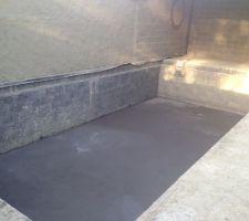 Vue de la piscine bonde de fond et fond mis a niveau (1m40 d'eau)