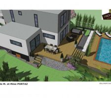 Plan du projet d'aménagement extérieur