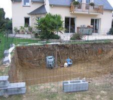 Cloturé pour les enfants pendant la construction