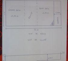 Voici les plans de la piscine et le plan de coupe