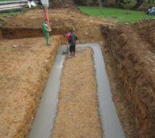 Béton pour les fouilles