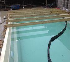 PLancher de protection pour la piscine pendant les travaux