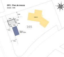 Projet de piscine les photos de la piscine - Plan de masse cote dans les 3 dimensions ...