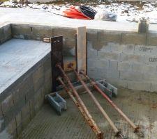 Fabrication de l'escalier d'acces au bassin