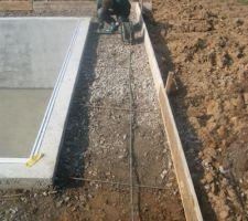 Préparation des terrasses.
