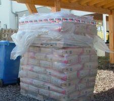 80 sacs de 25 kg de ciment