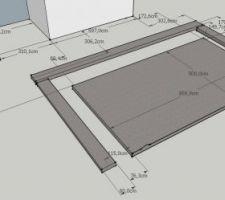 Fondation pour piscine et terrasse