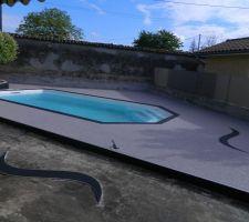 Partie terrasse piscine terminée.