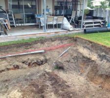 Mon tuyau qui s'est cassé sous l'effondrement du sable, rien de grave, ils ont réparés rapidement.