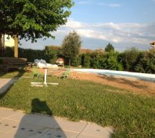 Niveau de la terrasse par rapport à la piscine