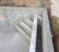 Escalier d angle et banquette