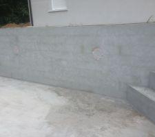 Mur avec les 2 spots