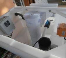 Préparer le bloc de filtration...